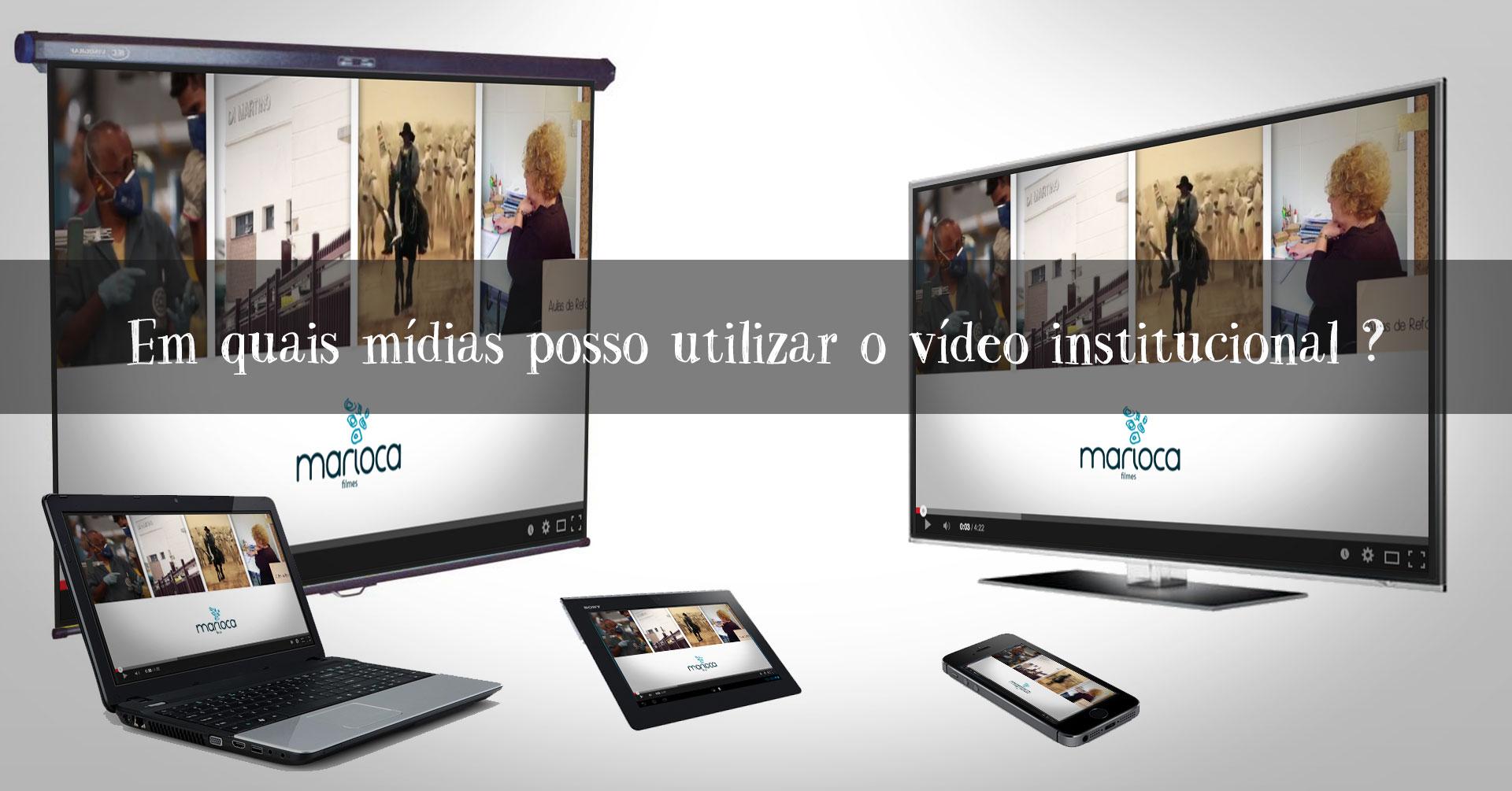 midias vídeo institucional